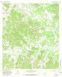 A Bar A Ranch Texas Historical topographic map, 1:24000 scale, 7.5 X 7.5 Minute, Year 1964
