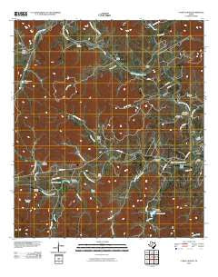 A Bar A Ranch Texas Historical topographic map, 1:24000 scale, 7.5 X 7.5 Minute, Year 2010