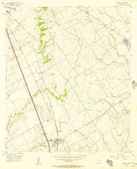 Abbott Texas Historical topographic map, 1:24000 scale, 7.5 X 7.5 Minute, Year 1956