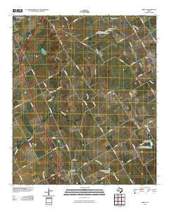 Abbott Texas Historical topographic map, 1:24000 scale, 7.5 X 7.5 Minute, Year 2010