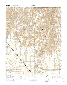 Abell Texas Current topographic map, 1:24000 scale, 7.5 X 7.5 Minute, Year 2016