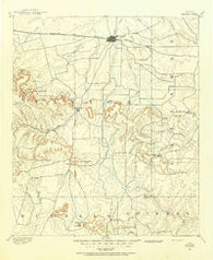 Abilene Texas Historical topographic map, 1:125000 scale, 30 X 30 Minute, Year 1890