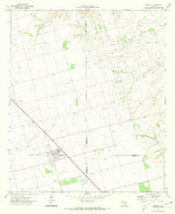 Ackerly Texas Historical topographic map, 1:24000 scale, 7.5 X 7.5 Minute, Year 1970