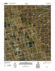 Ackerly Texas Historical topographic map, 1:24000 scale, 7.5 X 7.5 Minute, Year 2010