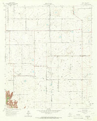 Acuff Texas Historical topographic map, 1:24000 scale, 7.5 X 7.5 Minute, Year 1965
