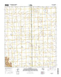 Acuff Texas Current topographic map, 1:24000 scale, 7.5 X 7.5 Minute, Year 2016