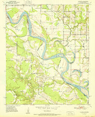 Acworth Texas Historical topographic map, 1:24000 scale, 7.5 X 7.5 Minute, Year 1951