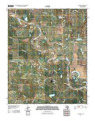 Acworth Texas Historical topographic map, 1:24000 scale, 7.5 X 7.5 Minute, Year 2010