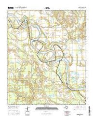 Acworth Texas Current topographic map, 1:24000 scale, 7.5 X 7.5 Minute, Year 2016