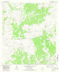 Adams NW Texas Historical topographic map, 1:24000 scale, 7.5 X 7.5 Minute, Year 1963