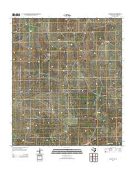 Adams NW Texas Historical topographic map, 1:24000 scale, 7.5 X 7.5 Minute, Year 2012