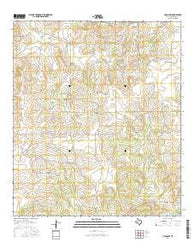 Adams NW Texas Current topographic map, 1:24000 scale, 7.5 X 7.5 Minute, Year 2016