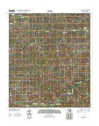 Adams SE Texas Historical topographic map, 1:24000 scale, 7.5 X 7.5 Minute, Year 2012