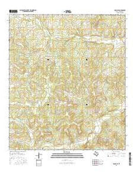 Adams SE Texas Current topographic map, 1:24000 scale, 7.5 X 7.5 Minute, Year 2016
