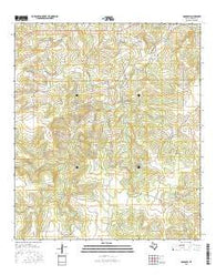 Adams SW Texas Current topographic map, 1:24000 scale, 7.5 X 7.5 Minute, Year 2016