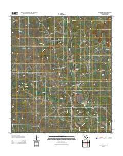Adamsville Texas Historical topographic map, 1:24000 scale, 7.5 X 7.5 Minute, Year 2012