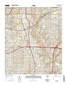 Addison Texas Current topographic map, 1:24000 scale, 7.5 X 7.5 Minute, Year 2016