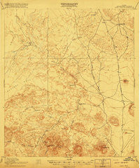 Agua Fria Texas Historical topographic map, 1:62500 scale, 15 X 15 Minute, Year 1917