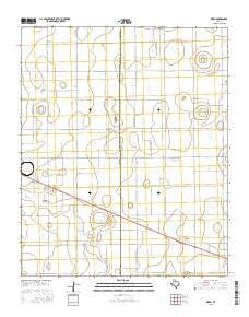 Aiken Texas Current topographic map, 1:24000 scale, 7.5 X 7.5 Minute, Year 2016