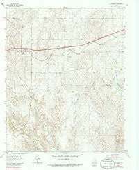 Alanreed Texas Historical topographic map, 1:24000 scale, 7.5 X 7.5 Minute, Year 1963