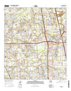 Aldine Texas Current topographic map, 1:24000 scale, 7.5 X 7.5 Minute, Year 2016 from Texas Map Store