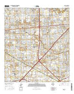 Alief Texas Current topographic map, 1:24000 scale, 7.5 X 7.5 Minute, Year 2016 from Texas Map Store