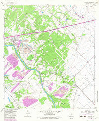 Alleyton Texas Historical topographic map, 1:24000 scale, 7.5 X 7.5 Minute, Year 1958