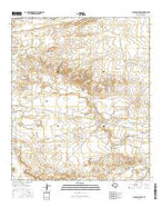 Alligator Draw Texas Current topographic map, 1:24000 scale, 7.5 X 7.5 Minute, Year 2016 from Texas Map Store