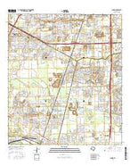 Almeda Texas Current topographic map, 1:24000 scale, 7.5 X 7.5 Minute, Year 2016 from Texas Map Store