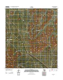 Altuda Texas Historical topographic map, 1:24000 scale, 7.5 X 7.5 Minute, Year 2012