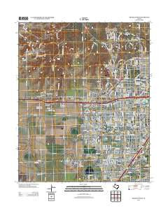 Amarillo West Texas Historical topographic map, 1:24000 scale, 7.5 X 7.5 Minute, Year 2012