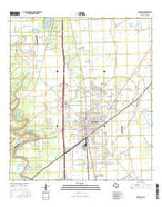 Angleton Texas Current topographic map, 1:24000 scale, 7.5 X 7.5 Minute, Year 2016 from Texas Map Store