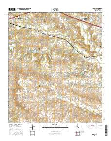 Annetta Texas Current topographic map, 1:24000 scale, 7.5 X 7.5 Minute, Year 2016