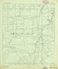 Anson Texas Historical topographic map, 1:125000 scale, 30 X 30 Minute, Year 1891