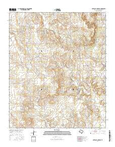 Antelope Creek SE Texas Current topographic map, 1:24000 scale, 7.5 X 7.5 Minute, Year 2016