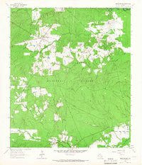 Apple Springs Texas Historical topographic map, 1:24000 scale, 7.5 X 7.5 Minute, Year 1963