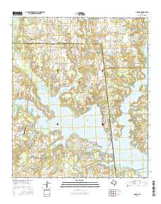 Arbala Texas Current topographic map, 1:24000 scale, 7.5 X 7.5 Minute, Year 2016