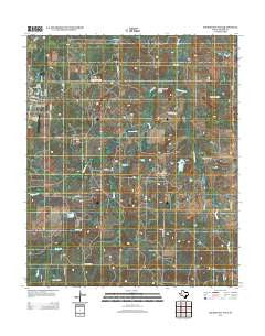 Archer City East Texas Historical topographic map, 1:24000 scale, 7.5 X 7.5 Minute, Year 2012