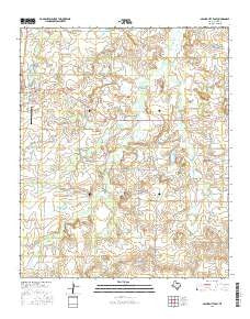 Archer City East Texas Current topographic map, 1:24000 scale, 7.5 X 7.5 Minute, Year 2016