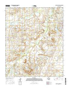 Archer City West Texas Current topographic map, 1:24000 scale, 7.5 X 7.5 Minute, Year 2016