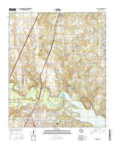 Argyle Texas Current topographic map, 1:24000 scale, 7.5 X 7.5 Minute, Year 2016
