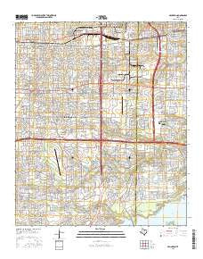 Arlington Texas Current topographic map, 1:24000 scale, 7.5 X 7.5 Minute, Year 2016