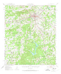 Athens Texas Historical topographic map, 1:62500 scale, 15 X 15 Minute, Year 1949