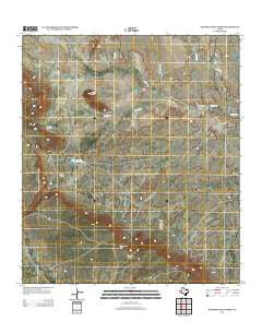 Bandera Mesa North Texas Historical topographic map, 1:24000 scale, 7.5 X 7.5 Minute, Year 2012