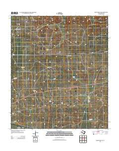 Barnhart NE Texas Historical topographic map, 1:24000 scale, 7.5 X 7.5 Minute, Year 2012