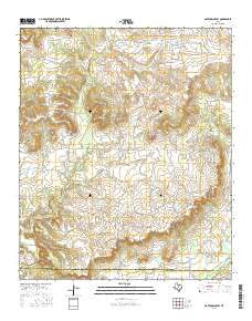 Bartons Chapel Texas Current topographic map, 1:24000 scale, 7.5 X 7.5 Minute, Year 2016
