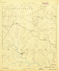 Bastrop Texas Historical topographic map, 1:125000 scale, 30 X 30 Minute, Year 1885