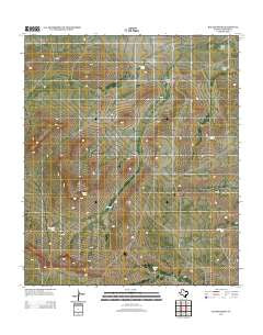 Baylor Draw Texas Historical topographic map, 1:24000 scale, 7.5 X 7.5 Minute, Year 2012