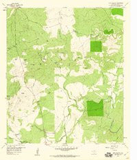 Bear Hollow Texas Historical topographic map, 1:24000 scale, 7.5 X 7.5 Minute, Year 1959