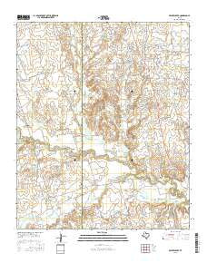 Beaver Creek Texas Current topographic map, 1:24000 scale, 7.5 X 7.5 Minute, Year 2016